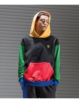 Cross Colours Colorblock Black Hoodie by Cross Colours