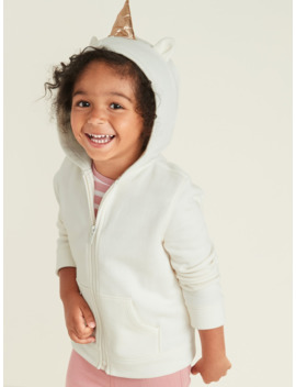 Critter Zip Hoodie For Toddler Girls by Old Navy