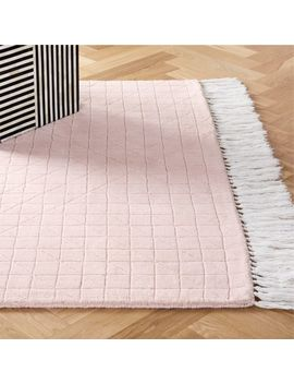 Divvy Dusty Pink Rug by Crate&Barrel
