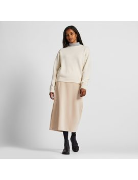 Women Corduroy Longline Narrow Skirt by Uniqlo