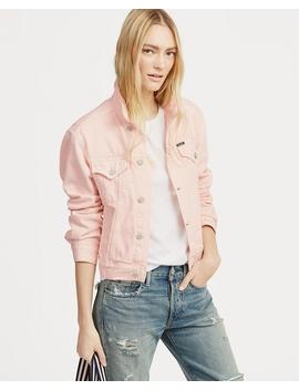 Pink Pony Denim Trucker Jacket by Ralph Lauren