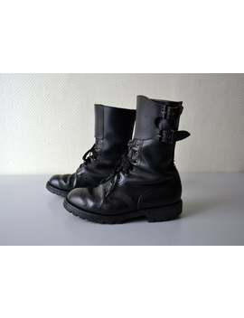 vintage-french-combat-boots-rangers-tortora-marseilles-_-leather-shoes-_-us-size-85 by etsy