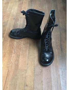 Vintage Double H Hh 975 Military Toe Cap Combat Boots Mens 6 1/2 D / Womens 8 1/2 by Etsy