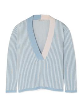eddy-striped-cashmere-sweater by morgan-lane