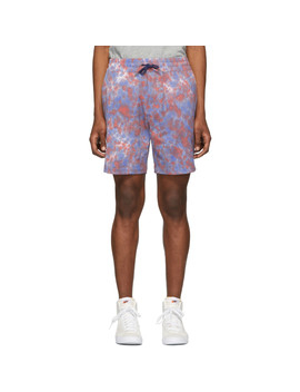 Red Tie Dye Leisure Shorts by AimÉ Leon Dore