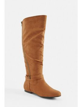 Dionna Asymmetric Riding Boot by Justfab