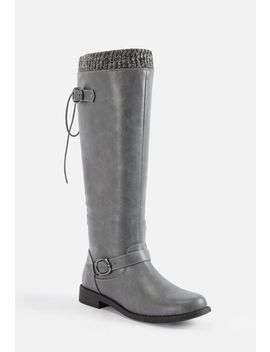 Aurelia Lace Up Sweater Cuff Boot by Justfab