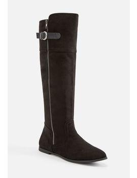 Kirbla Faux Suede Zipper Boot by Justfab