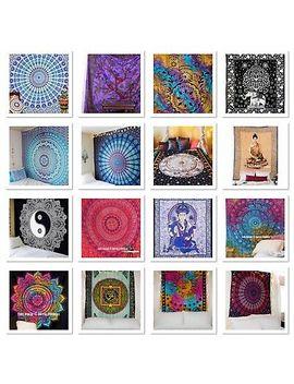 <Span><Span>Indian Tapestry Wall Hanging Mandala Hippie Gypsy Bedspread Throw Bohemian Cover</Span></Span> by Ebay Seller