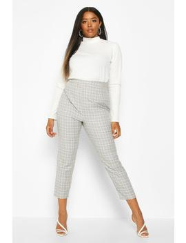 Plus Check Tailored Trouser by Boohoo