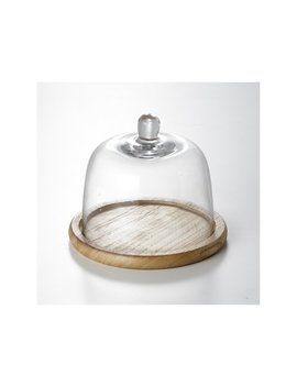 Chevalier Glass Dome Cake Stand by Gracie Oaks