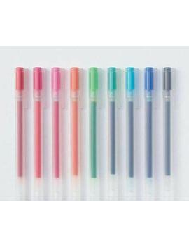 Muji Gel Ink Ballpoint Pen Cap Type 0.5 Mm 9colors Set Free Shipping Japan by Muji