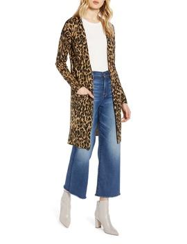 Leopard Print Long Cardigan by Halogen®