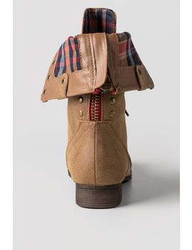 Galleria Plaid Combat Boots by Francesca's