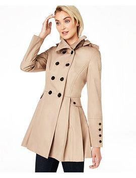 Petite Hooded Skirted Raincoat by General