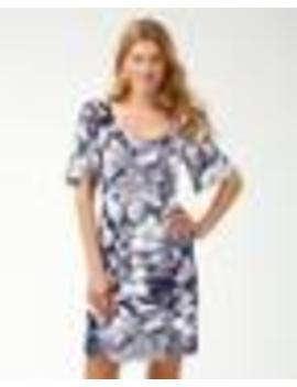 Buona Sera Tambour Flounce Sleeve Dress by Tommy Bahama