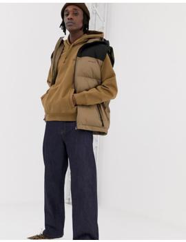Carhartt Wip Hooded American Script Sweatshirt In Hamilton Brown by Carhartt Wip