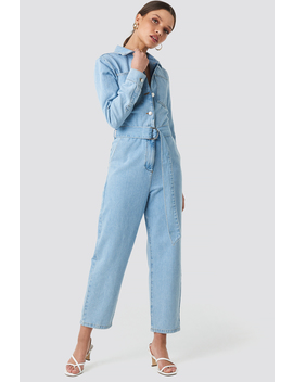 Waist Belt Denim Jumpsuit Blau by Na Kd Trend