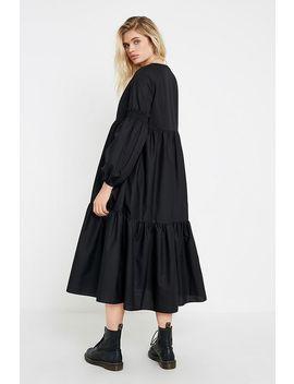 Uo Poplin Smock Midi Dress by Urban Outfitters