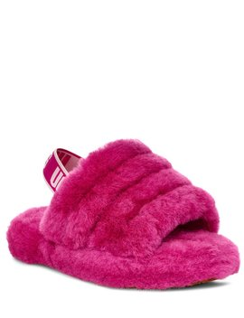 Ugg® Logo Girls' Fluff Yeah Slides by Ugg