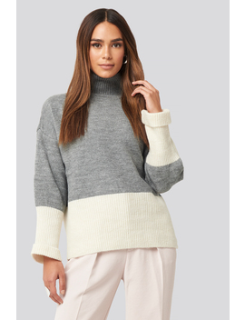 High Neck Knitted Sweater Grey by Trendyol