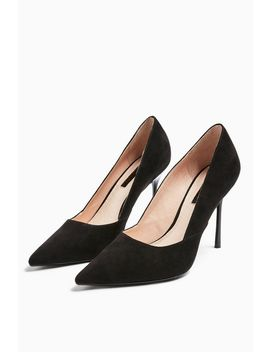 Georgia Black Pointed Court Shoes by Topshop