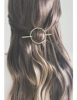 Minimalist Gold Hair Accessories, Hammered Circle Hair Clip, Round Barrette, Hair Pin, Gold Hair Slide, Geometric Hair Clip, Hair Bun Holder by Etsy