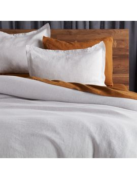 Linen Grey Micro Pinstripe Duvet Cover by Crate&Barrel