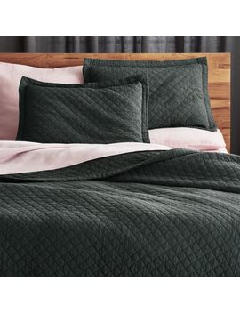 Dagny Dark Grey Bedding by Crate&Barrel