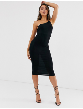 Asos Design   Going Out   Robe Moulante Mi Longue Asymétrique by Asos Design