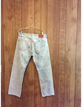 Levis 501 Acid Wash Jeans // 36 X 30 by Etsy