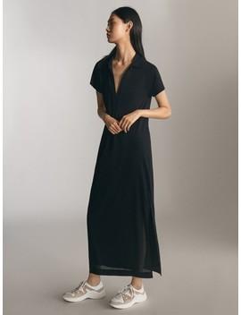 Long Black Dress by Massimo Dutti
