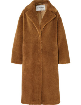Maria Cocoon Oversized Faux Shearling Coat by Stand