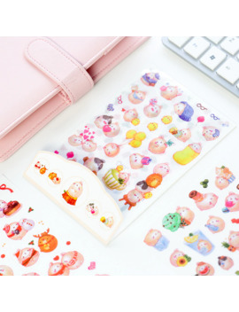 6 Sheets Diy Colorful Rabbits Kawaii Stickers Diary Planner Journal Note Diary Paper Scrapbooking Albums Photo Tag by Ali Express.Com
