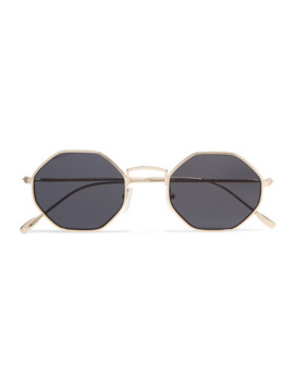 Broome Hexagon Frame Gold Tone Sunglasses by Illesteva