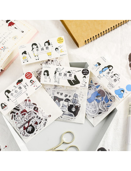 Salt Little Person Decoration Adhesive Stickers Set Cute Cartoon Girl Stickers Diary Sticker Scrapbook Korean Stationery by Ali Express.Com