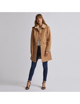 Brown Faux Fur Collar Dolly Coat by Dorothy Perkins
