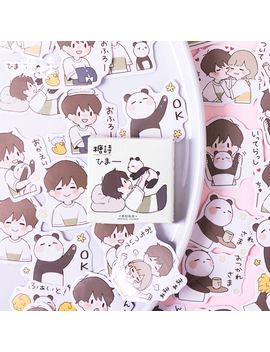 45 Pcs/Pack Panda With Boy Bullet Journal Decorative Stationery Stickers Scrapbooking Diy Diary Album Stick Label by Ali Express.Com