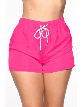 jessica-windbreaker-shorts---neon-pink_white by fashion-nova