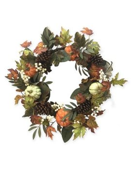 Bee & Willow™ Home 24 Inch Fall Floral Harvest Wreath by Bed Bath And Beyond
