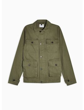 Khaki Safari Four Pocket Jacket by Topman