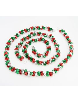 Set Of (2) 5' Jingle Bell Garlands By Valerie by The Valerie Parr Hill Collection