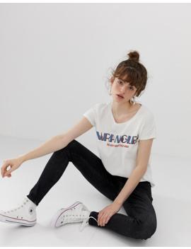 Wrangler New Wave Logo T Shirt by Wrangler