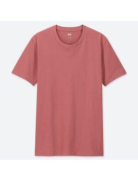 Men 100 Percents Supima Cotton Crew Neck Short Sleeved T Shirt by Uniqlo