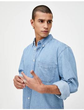 Paprasti Džinsiniai Marškiniai Ilgomis Rankovėmis by Pull & Bear