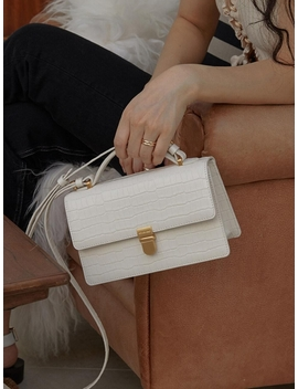 More Bag Croc White by Other And
