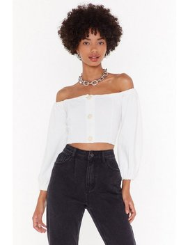 Break Knit Down Off The Shoulder Cropped Sweater by Nasty Gal
