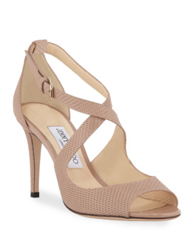 Emily Net Embossed Patent Sandals by Jimmy Choo