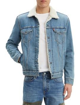 Faux Shearling Denim Trucker Jacket by Levi's