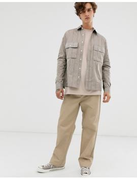 asos-design-overshirt-in-ecru-check by asos-design